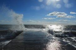 风雨如磐的海运 图库摄影