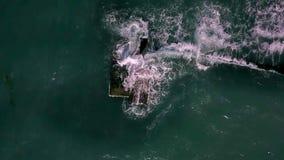 风雨如磐的海风景  股票视频