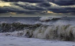 风雨如磐的海 免版税图库摄影