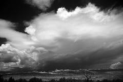 风雨如磐的犹他天空 库存照片