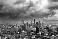 风雨如磐的西雅图 免版税库存图片