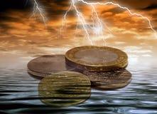风雨如磐的货币 图库摄影