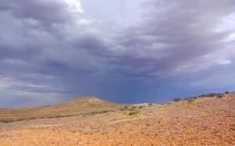 风雨如磐的辛普森沙漠 库存图片