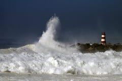 风雨如磐的通知 免版税库存图片