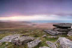 风雨如磐的Dartmoor 免版税库存图片