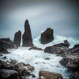 风雨如磐的Iclandic海 库存图片