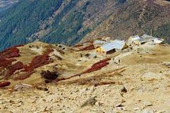 风雨棚在尼泊尔   免版税库存图片