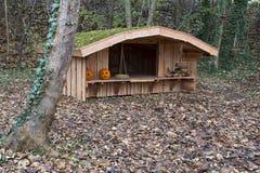 风雨棚在森林里 免版税库存照片