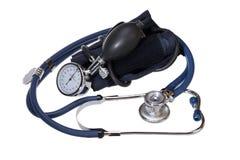 风雨计血压成套工具 免版税库存照片