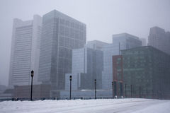 暴风雪的波士顿 免版税库存图片