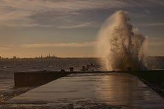 风暴在塔林 免版税库存照片