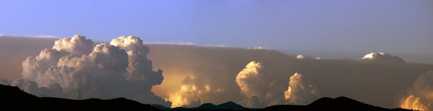 风暴在夏天 库存照片