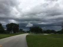 风暴在沼泽地 库存图片