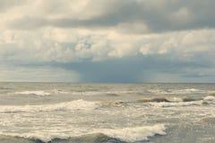 风暴在海 库存图片