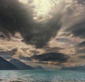 风暴在海洋 库存图片