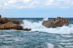 风暴在海 免版税库存照片