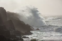 风暴在海洋 免版税库存图片