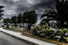 风暴在马尔马拉地区-土耳其 库存图片