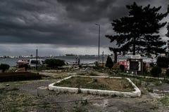 风暴在马尔马拉地区-土耳其 免版税库存图片