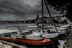 风暴在马尔马拉地区-土耳其 图库摄影