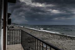 风暴在马尔马拉地区-土耳其 免版税库存照片