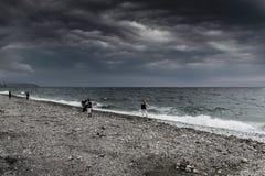 风暴在马尔马拉地区-土耳其 库存照片