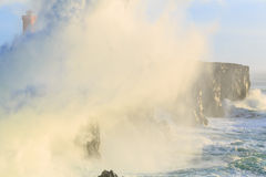 风暴在离冰岛的海岸的附近 库存图片