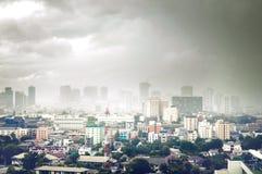 风暴城市 图库摄影