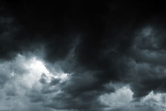 风暴天空 库存图片