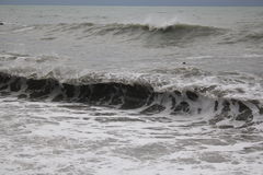 风暴黑海冬天海恶劣天气寒冷 图库摄影