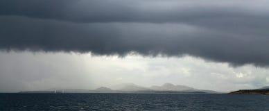 飑线,撒丁岛 库存图片