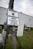 飓风卡特里娜符号警告围场 免版税图库摄影