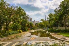 飓风厄马损伤 免版税图库摄影