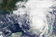 飓风厄马朝向往佛罗里达,在2017年美国-美国航空航天局装备的这个图象的元素 免版税库存图片