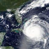 飓风厄马朝向往佛罗里达,在2017年美国-美国航空航天局装备的这个图象的元素 库存照片