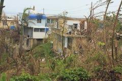 飓风后果在波多黎各 免版税库存照片