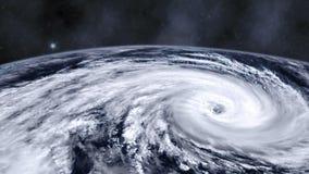 飓风在地球的风暴龙卷风从空间,卫星看法 影视素材