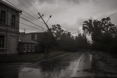 飓风在市塔甘罗格,罗斯托夫地区,俄罗斯联邦2014年9月24日 库存图片