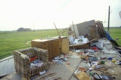 飓风安德鲁损伤, Jeanerette, LA区域-全国灾害 免版税库存照片