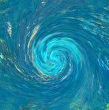 飓风或龙卷风背景 向量例证