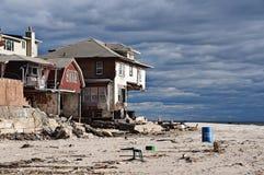 飓风桑迪后果 免版税库存照片