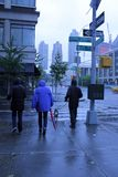 飓风桑迪在曼哈顿 免版税库存图片
