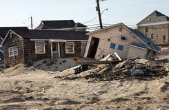 飓风桑迪损伤 库存照片