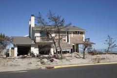 飓风桑迪- 1年后海湾树荫处 免版税库存照片