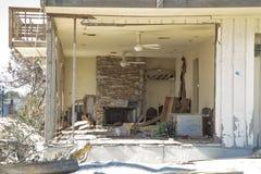 飓风桑迪- 1年后海湾树荫处 库存照片
