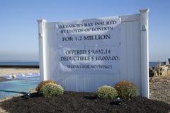 飓风桑迪- 1年后联合海滩 免版税库存照片