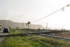 飓风玛丽亚损伤在波多黎各 库存图片