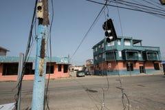 飓风玛丽亚损伤在波多黎各 免版税库存照片