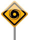 飓风符号 免版税库存照片