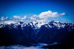 飓风里奇山脉风景在奥林匹克国家公园 免版税库存图片